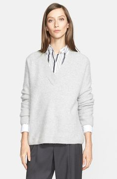 Nordstrom Signature and Caroline Issa V-Neck Cashmere Sweater (Nordstrom Exclusive) available at #Nordstrom