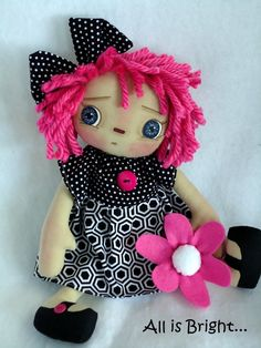 Raggedy Annie Doll Kylie by Allisbright on Etsy www.etsy.com/shop/allisbright