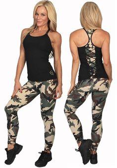 c0d19a5499d5b Equilibrium Activewear L751 Women Sexy Camo Workout Clothing