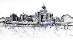 Islamia College, Peshawar.  Pen and ink sketch with 0.1mm rapido  By: Zehra Naqavi (Architect/artist)  Year: 1997