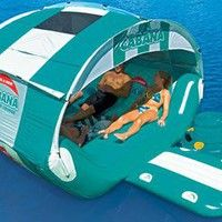 Cabana Inflatable lounge. Um dream wish list please