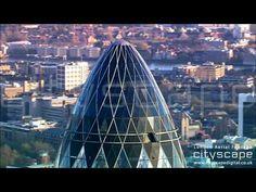 London Aerial Footage - The Gherkin (HD) London Bridge, London City, Aerial Footage, London Eye, Skyscraper, Skyscrapers