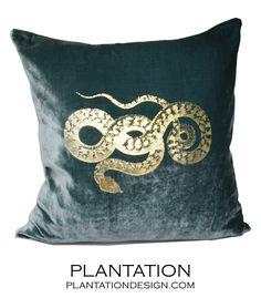 Reiki Velvet Pillow | Snake, beautifully printed.