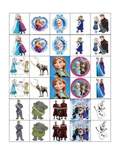 NEW Disney Frozen Picture Matching Game Birthday by TahDahStudio