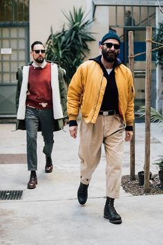 Street style Fashion Week homme automne hiver 2017 2018 de Milan 21