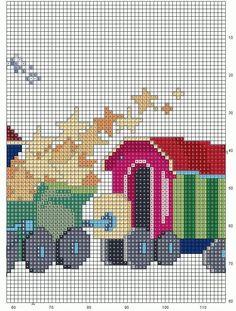 GRAFICOS PUNTO DE CRUZ GRATIS : CUADRO INFANTILES (58) Cross Stitch For Kids, Cross Stitch Baby, Cross Stitch Charts, Cross Stitch Patterns, Cross Stitching, Cross Stitch Embroidery, Alphabet For Kids, Free Graphics, Plastic Canvas Patterns