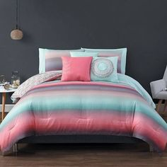 coral and teal bedroom ideas - Google Search