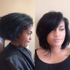 Short Haircuts: 16 Epic Transformations You Just Have To See [Gallery] blackhairinformat Love Hair, Gorgeous Hair, Bob Hairstyles, Straight Hairstyles, Black Hairstyles, Short Hair Cuts, Short Hair Styles, My Hairstyle, Hairstyle Ideas