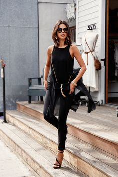 all black #fashion #style #chic #women #girl #outfit #womenswear