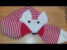 Crochet Panda, Crochet Fox, Crochet Hats, Fox Scarf, Hand Knit Scarf, Knitting Machine Patterns, Knitted Animals, Knitted Gloves, Baby Hats