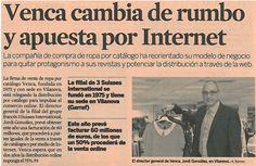 Venca cambia de rumbo y apuesta por Internet. Una interesante entrevista a Jordi González, Director General en el diario Expansión