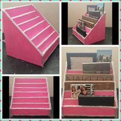 DIY Foam Board Stand   Cartonnage-DIY:$4 Makeup palette stand/organizer holder/storage. Made ...