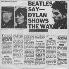 Beatles Say- Dylan Shows The Way