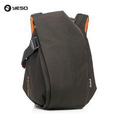 46.22$  Buy now - http://aliqwq.shopchina.info/go.php?t=32368173930 - YESO Brand Stylish Men Large Capacity Bag Travel Laptop Backpack Waterproof Nylon College Tide Casual Men's Backpacks School Bag  #buyininternet