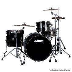 DDrum MAX 322 3PC KIT PIANO BLACK 22 INCH BASS DRUM - SHELL PACK Drum Set #ddrum