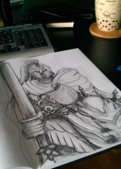 Morning coffee with Ares from Smite