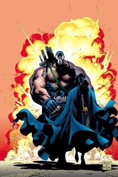 #Bane #Fan #Art. (Batman and Bane) By: Mat Broome. ÅWESOMENESS!!!™