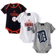 MLB Infant Detroit Tigers 3 Piece Bodysuit Set