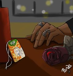 """There are difficult decisions that I have to make... I cant't have both ... (play on season 2, episode 18 the rose from the Seelie Court and Alec' protectional charm gift to Magnus) """"Drawn by panda_138 ... magnus bane, the mortal instruments, shadowhunters"""