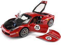 "Ferrari 458 Italia ""Challenge #5 - Elite Version"" 1:18 Scale - Hot Wheels Diecast Model (Red) #ferrari #scuderiaferrari #458 #458italia #488 #f12 #dino #enzo #enzoferrari #laferrari #italia #ferraricalifornia #308gto #599gto #speciale #supercar #hypercar #thegrandtour #diecast #118scale #124scalemodelcars"