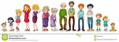 Buy Big Extended Family by interactimages on GraphicRiver. Illustration of a big extended family on a white background Extended Family, Big Family, Family Guy, Family Clipart, Family Vector, Free Clipart Images, Family Illustration, Two Year Olds, Free Illustrations