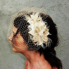 What a creative idea. I really like the birdcage veil