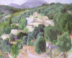Angelina Beloff - Le village - Arte Rusia, México - Informacion de la Obra