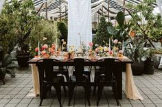wedding reception table with black metal marais chairs Black Wedding Themes, Wedding Colors, Wedding Ideas, Wedding Reception Tables, Reception Ideas, Modern Wedding Inspiration, Wedding Decorations, Table Decorations, Bud Vases