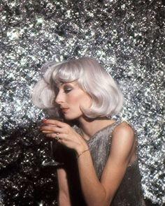 Anjelica Huston photographed by Richard Avedon, 1976.