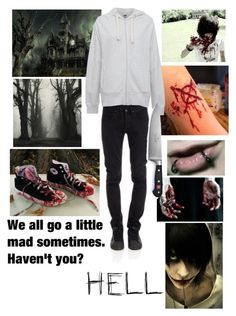 """""""Cp~Rp~ Jeff the killer"""" by xlucasx ❤ liked on Polyvore featuring George, Converse, CYCLE, Pull&Bear and Wüsthof"""