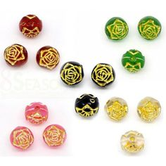 Wholesale Mixed Gold-Foil Flower Round Acrylic Small Hole Beads Sold Per Pack Of 500 from China Supplier Buying Wholesale, Acrylic Beads, Gold Foil, Stud Earrings, China, Flowers, Stud Earring, Royal Icing Flowers, Flower