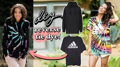DIY: REVERSE Tie-Dye 3 Ways!! (Foolproof Tutorial) -By Orly Shani
