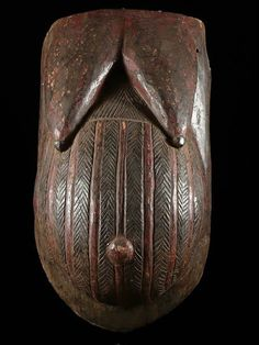 Africa | Belly Mask from the Nago/Anago people of Benin. | Wood and pigment | ca. 1960s/70s