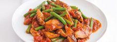 Marocké kuře s citronovým kuskusem Kung Pao Chicken, Meat, Ethnic Recipes, Food, Lemon, Essen, Meals, Yemek, Eten