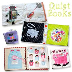 Quiet books...I'd love to make something like this.  This website is an awesome idea source