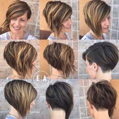 graduation hairstyles 17 Graduated Bob Hairstyles You will Love. Olia Hair Color, Hair Color Cream, Graduated Bob Hairstyles, Short Bob Hairstyles, Graduated Hair, Asymmetrical Hairstyles, Short Hairstyle, Growing Out Short Hair Styles, Short Hair Cuts
