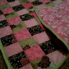 I made this quilt for my friend who is having a little girl in April.