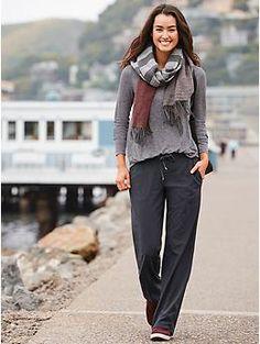 I love these pants! Stripe Midtown Trouser | Athleta