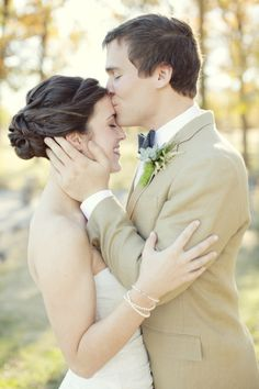 sweet bride and groom moment