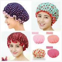 Mama   Home Furnishing Bathroom Waterproof Shower Cap Hair Headdress Chiffon Double Oil Cap Cap Cosmetic Hair Protective Cap