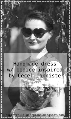 Cercei Lannister, Outfit Photoshoot, Heart Shaped Glasses, Handmade Dresses, Season 7, Retro Dress, Outfit Posts, Czech Republic, Fashion History