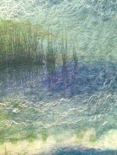 Felted landscape by Jo Hunter Designs