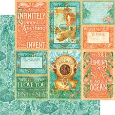 Graphic 45 - Voyage Beneath the Sea Collection - 12 x 12 Double Sided Paper - Wild Wild Waves at Scrapbook.com