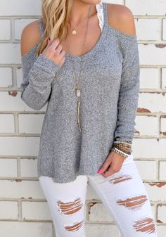 Fashion Style Off Shoulder Sweater