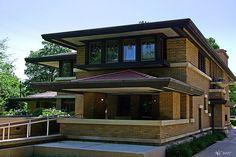 Meyer May House (rear) - Frank Lloyd Wright by norjam8, via Flickr