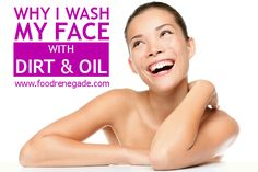 Why I Wash My Face With Dirt & Oil-- bentonite clay and tallow/olive oil facial cleanser. Acne Face Mask, Acne Facial, Facial Care, Healthy Beauty, Health And Beauty, Face Cream For Wrinkles, Facial Cleansing, Cleansing Oil, Natural Skin Care