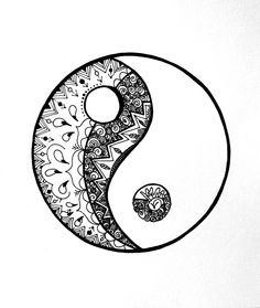 Ying yang sharpie doodle