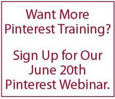 free, LIVE 'Pinterest for Business' webinar.