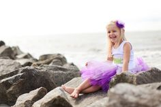 ombre tutu and headband, via my two sweets boutique! super cute croc t-shirt as well! birthday girl!