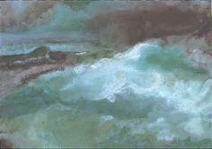 "Willi Gottschalk,ÖL auf Karton,Titel:"" Land unter"" Painting, Paper Board, Painting Art, Paintings, Painted Canvas, Drawings"